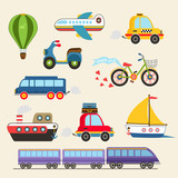 Fototapety Vector transport set