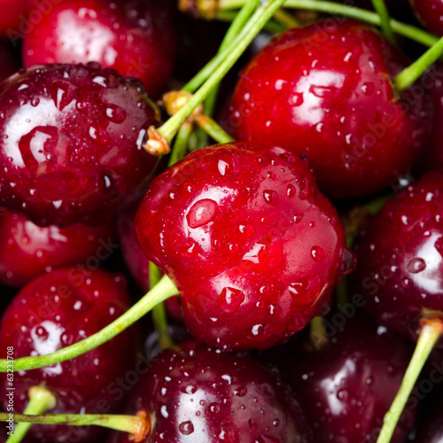fresh cherry close-up