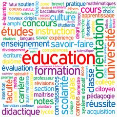 """Nuage de Tags """"EDUCATION"""" (formation études diplômes examens)"""