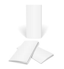 blank vector brochure template
