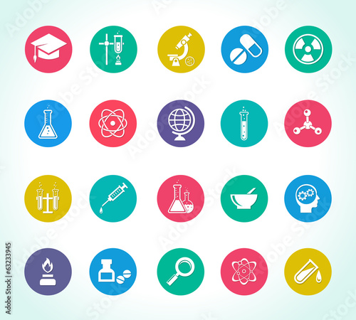 scientific research icons