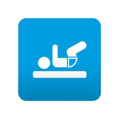 Etiqueta tipo app azul simbolo cambiar pañal