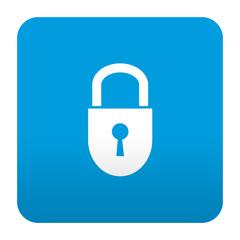 Etiqueta tipo app azul simbolo candado