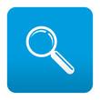 Etiqueta tipo app roja simbolo busqueda