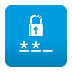 Etiqueta tipo app azul simbolo login