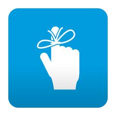 Etiqueta tipo app azul simbolo memoria