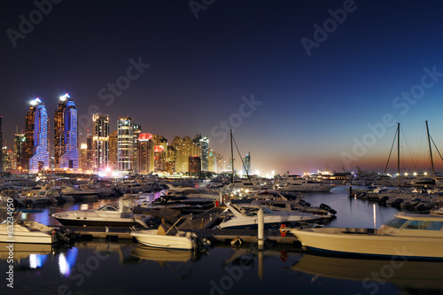 Dubai Marina with JBR, Jumeirah Beach Residences, UAE