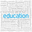 """EDUCATION"" Tag Cloud (training skills university school career)"