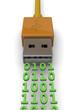 USB TRANSFERT DATA CONCEPT - 3D