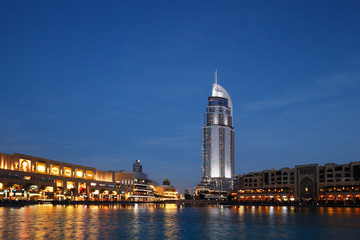 The Dubai Mall and The Address Hotel at Dusk