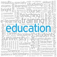"""""""EDUCATION"""" Tag Cloud (training skills university school career)"""