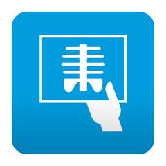 Etiqueta tipo app azul simbolo radiografia