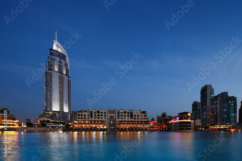 The Dubai Mall and The Address Hotel at Dusk