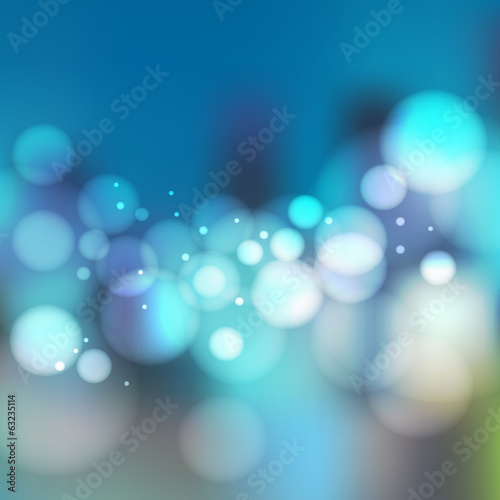 Abstract blur night city background