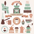Vector collection of decorative coffee icons