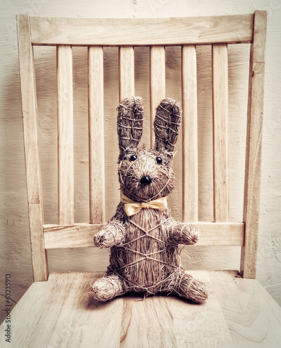 Easter Bunny on Chair