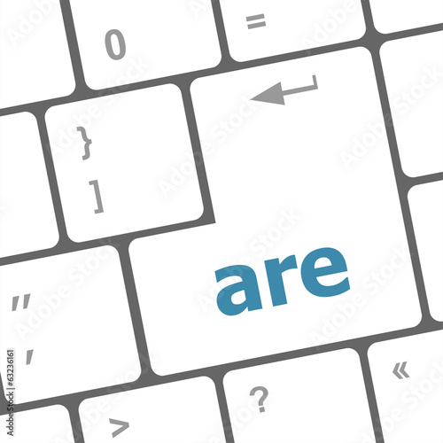 are word on computer keyboard key