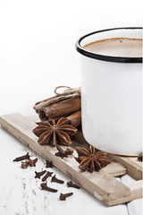 Hot cocoa with spices
