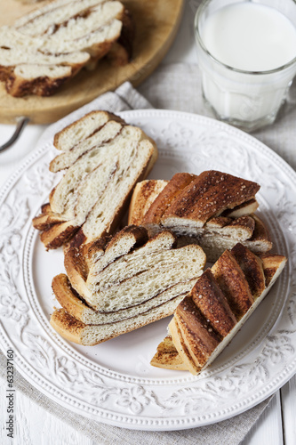 Slices of cinnamon bread