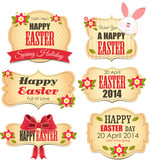 Fototapety Easter labels