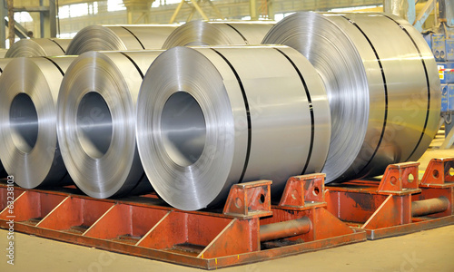 canvas print picture rolls of steel sheet