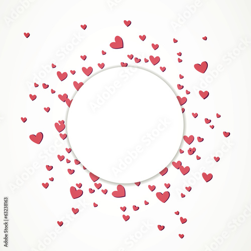 Vector Illustration of an Abstract Background with Hearts