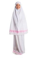 Young Muslim Girl In White Hijab