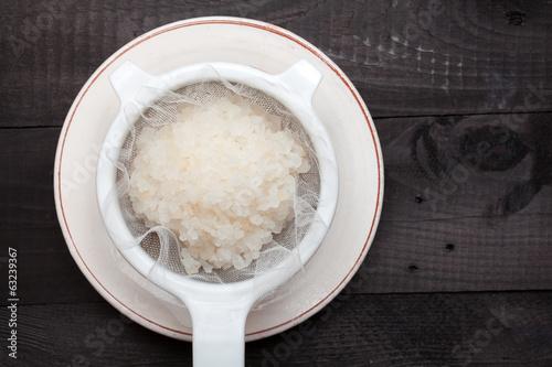 Leinwandbild Motiv Water kefir grains