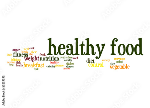Healthy food word cloud
