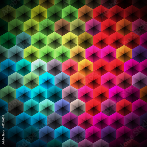 Abstract vector geometric background design. © articular