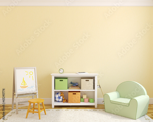 canvas print picture Interior of playroom.