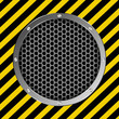 grate background with yellow and black stripes