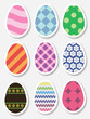 Set of Easter egg stickers. Vector illustration