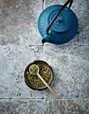 Sencha Green Tea and a Tea Pot poster