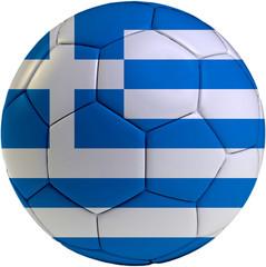 Football ball with Greece flag