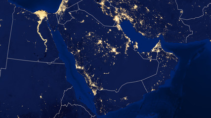 Arabian Peninsula - Night - 02