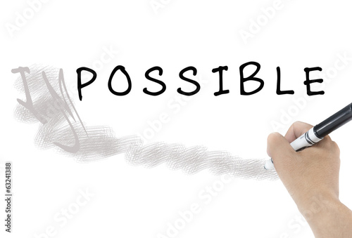 "word ""Impossible"" into ""Possible"""