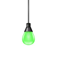 Hanging light bulb
