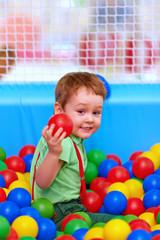 cute kid having fun on playground