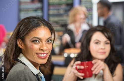Two Businesswomen in Cafe