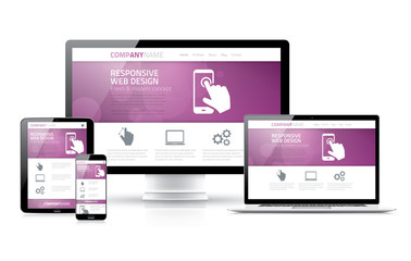 Scalable and flexible html, css, marketing responsive web design