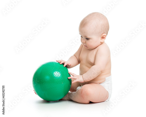 baby weared diaper with ball