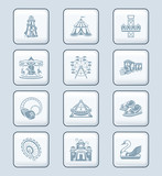 Attraction icons | TECH series