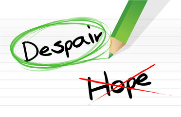 despair over hope selection illustration