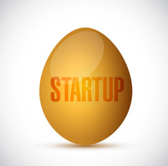 startup golden egg illustration design
