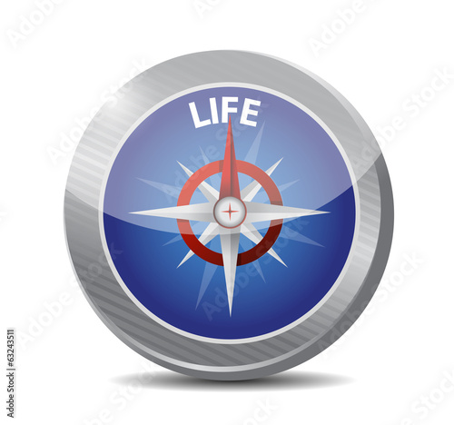 life compass guide illustration design