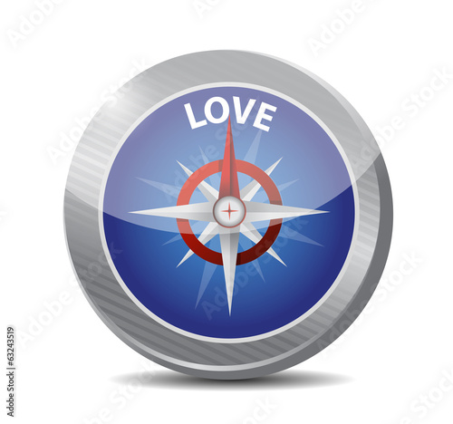 compass love destination illustration design