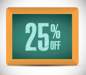 25 percent discount message illustration