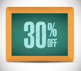 30 percent discount message illustration