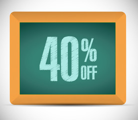 40 percent discount message illustration